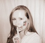 Angela Chansky - I took part in the Boston NOH8 photo shoot on March 27th...I had a little fun with the tat and tape after.