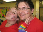 taylor keller - this is my friend nick and i at school on the day of silence!