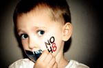 Devon Stein - Jackson, age 4. Teaching equality and NOH8 starts young.