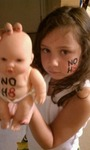 Tracy Wagner - The doll was supposed to be in our official NOH8 photo but bowed out at the last minute....