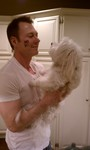 Eric Chaimberg - after the NOH8 photo shoot in hollywood i had to capture a picture with Graham, our Havanese that we found abandoned in a parking