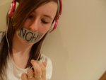 nadine weir - I am bisexual and i support the NOH8 Campaign