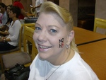 Tracy Stevens - Just got my tattoo....waiting for my photo shoot.