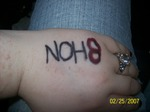 Mo-Nique, NOH8 - My first NOH8 picture.