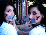 Peggi Odle - Since we live in a small town, we can't attend the NOH8 events, so we took our personal campaign to the streets.  We gained a lot of attention!