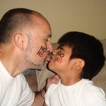 Keoni - Daddy and Xander at home after the NOH8 shoot!