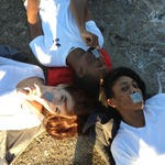 Amber Demery - My friends (counter-clockwise from top) Keno, Jessica, & I supporting NOH8 in Baton Rouge, Louisiana.