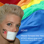 miss Angie Lique - Dutch / Miami,fl Dance Music Artist Miss Angie Lique Supports NOH8 campaign!!. Equal rights for everyone. Check her NOH8 statement during Gaypride in Amsterdam on youtube.