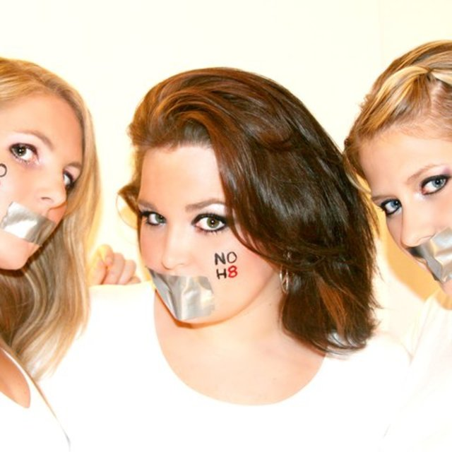Nicole Larrabee - My friends and I showing our support for such an important issue.