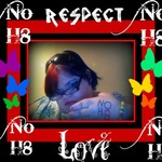 Kandi - this is my NOH8 picture I hope you like it and there should be peace and no bullying or any kind of hurtful fights
