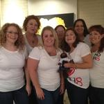 wytfeather - Me and my girls w/HairyIt...our traveling beaver...at the Tulsa NOH8 photo shoot!!