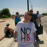 Sarah Williams - NO H8 at a No More Bully Protest. @Flour BLuff High School