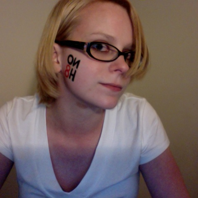 Stephanie Crandall - Just back from my NoH8 photo shoot in Hartford