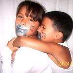 Au'Vey Smith - My nephew and niece help support the No H8 Campaign.