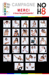 Michelle Bourque - We created our own NOH8 campaign to raise money for a local organism that helps gay community by offering: psychological support, education & understanding to community and also defends gay people rights.
