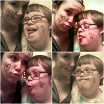 Bree Wright - my brother and i promoting NOH8! ♥