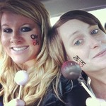 Katie Ward - Starbucks cake pops after our NoH8 photo shoot