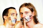 damien brearley - Me (left) and my friend Max (right) supporting the no h8 campaign from the UK