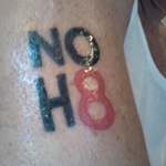 "Julian Alterman - My ""NOH8"" tattoo on my Bicep."