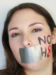 Tina Zabriskie - My Noh8 look for Dark Heart Designs with rainbow eye shadow.