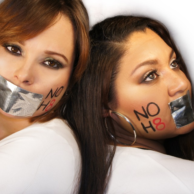 Traci Garcia - Love is love! Cousins supporting the NOH8 Campaign. Cousins: Abbie Lopez & Mirely Rodriguez, Photo: taken by Traci Garcia, MUA: Traci Garcia, Retoucher: Iris Alicea