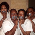 Devyn Johnson - (L to R) Carol, Lesley, Shay, and Devyn at NOH8 shoot in Chicago 10/11/10