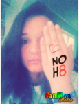 Jillian Sykes - Uploaded by NOH8 Campaign for iPhone