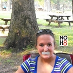 Kelly McKenna - This is me at the Park for showing my support to the NOH8 Campaign