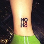 Hannah Peck cowles - Tattooed and proud to support <3 NOH8