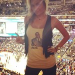 Alyssa Ramos - In order to show my respect for all of human kind, I made and wore a #noh8 shirt with Magic Johnson on it to the Clippers playoff game yesterday, the same day Donald Sterling was banned from the NBA for life.