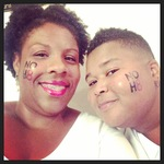 sondra king - Me and my wife! NOH8...we live in Phoenix, AZ and have been together 10 years and married for 5.