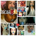 alexis palacios - Prinsess Makeup promoters collaboration for the NoH8 Campaign.