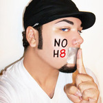 "Drew - ""Shush H8, Stand Up for Equality"" This is my NoH8 photo, photographed by me(Andrew Clark). This was inspired by the NoH8 Campaign as well as Adam Bouska's photography. I believe in standing up for equal rights, and standing up against hate of any kind. No matter what race, gender, or sexual orientation you are, H8 of any kind isn't acceptable. So this is my photo to fight for Equality."