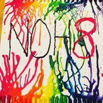 Emily  Bennett - Hello all my name is Emily and I am a great believer and supporter of the NOH8 campaign! I myself am straight against hate and strongly believe in equality! This is a crayon art I made with the NOH8 logo I hope y'all like it!!
