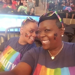 Rocksand Summers - Sharon and Rocksand support NoH8 at the liberty Game  Madison Square Garden 2017