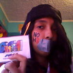 Mia Villa - Happy 2nd Year Anniversary NOH8! I had to make the NOH8 on my cheek out of tape and a really bad marker, so sorry if it's not particularly good. 