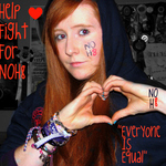 Eriinz - First attempt =) NOH8 <3 After being compeltly changed by Pauley Perrette i had to check out the website! i love what everyone stands for =D