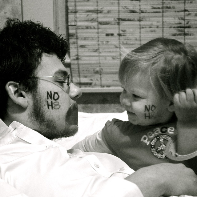 Dani - I took this picture of my husband and little girl, because we want her to grow up in a world where everyone has equal rights and where she has the freedom to love whomever she wants.
