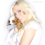 Crystal Harris and Puppy