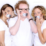 Jen Kirkman, Brad Wollack, and Sarah Colonna