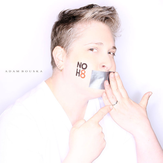 Dasha Snyder's NOH8 photo by Adam Bouska