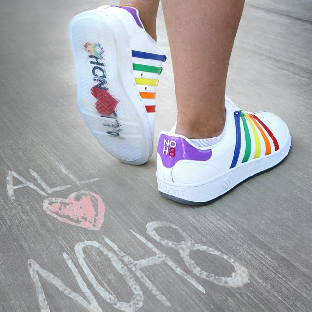 NOH8 x K-SWISS Rainbow Shoe | NOH8 Campaign