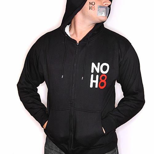 d53e0f41e6d SWEATSHIRT NOH8 Logo Front and Back - BLACK
